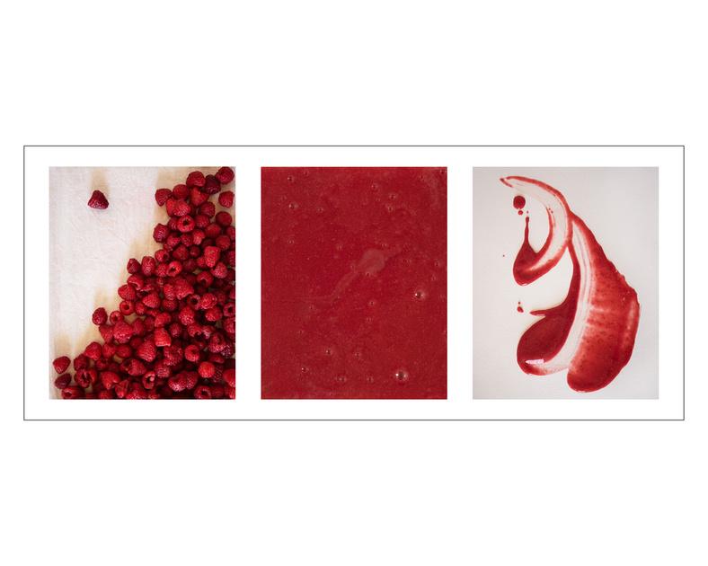 Raspberry Puree Triptych